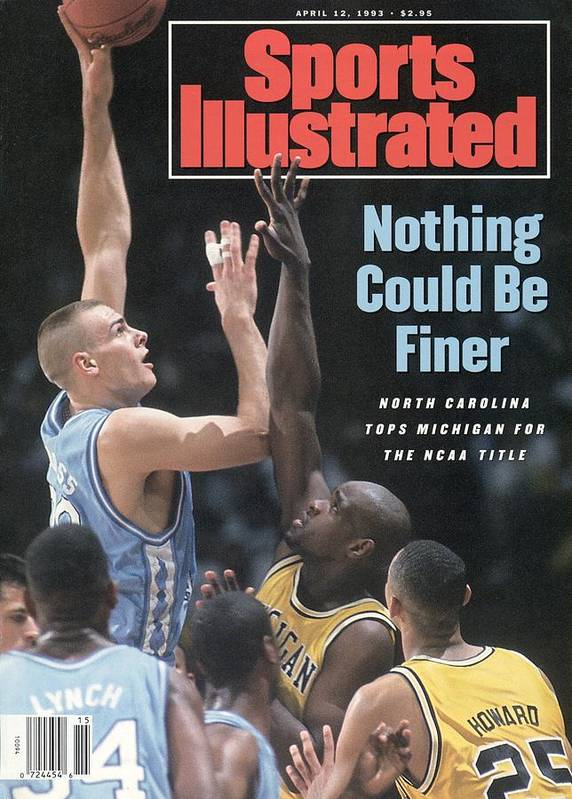 Louisiana Superdome Poster featuring the photograph University Of North Carolina Eric Montross, 1993 Ncaa Sports Illustrated Cover by Sports Illustrated