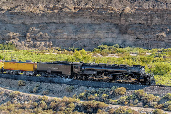 Afton Canyon Poster featuring the photograph Up4014 Big Boy 1 by Jim Thompson