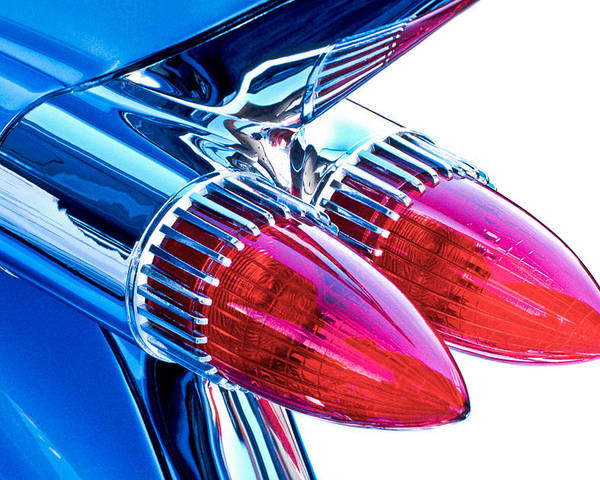 Automotive Poster featuring the photograph 1959 Caddy by David and Carol Kelly