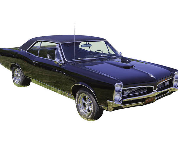 Black 1967 Pontiac Gto Muscle Car Poster By Keith Webber Jr