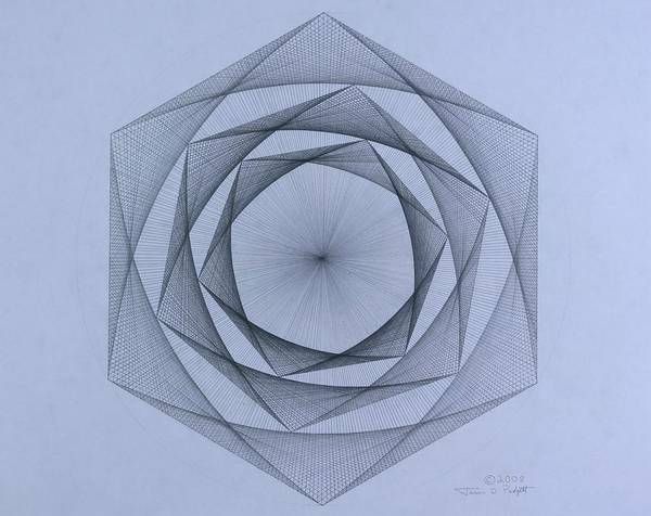 Jason Padgett Poster featuring the drawing  Energy Spiral by Jason Padgett