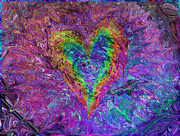 Valentines Poster featuring the mixed media Love From The Ripple Of Thought V 5 by Kenneth James