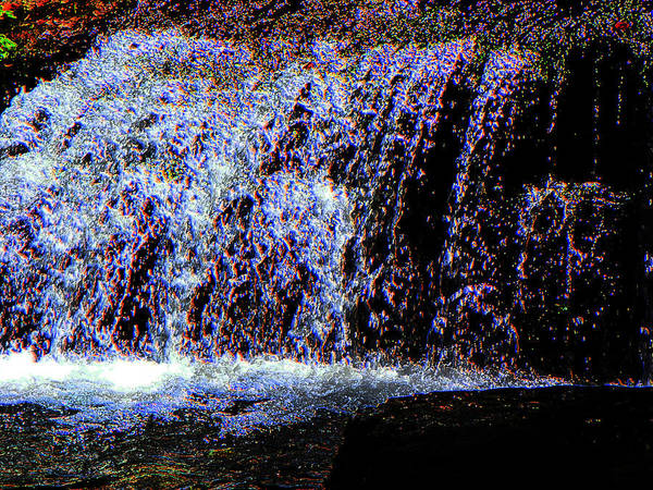 Water Poster featuring the photograph Neon Falls by Brenda Donko