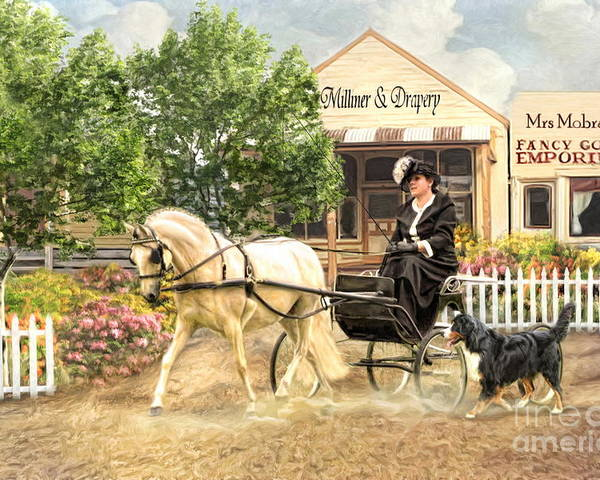 Welsh Mountain Pony Poster featuring the photograph Shopping Day by Trudi Simmonds
