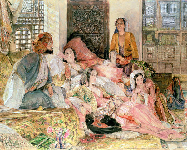 Oriental Poster featuring the painting The Harem by John Frederick Lewis