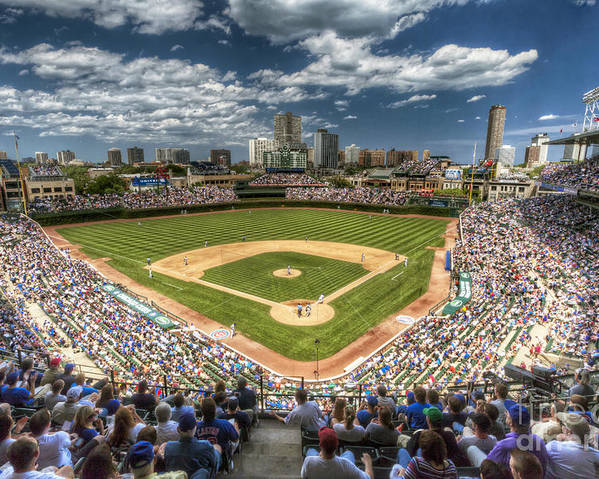 Wrigley Poster featuring the photograph 0234 Wrigley Field by Steve Sturgill