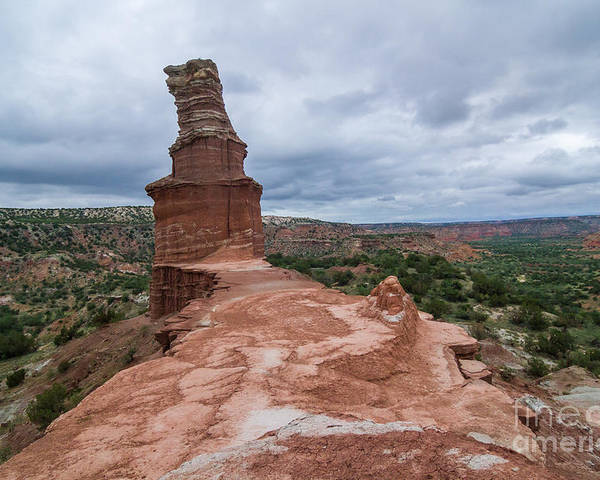 Lighthouse Poster featuring the photograph 07.30.14 Palo Duro Canyon - Lighthouse Trail 47e by Ashley M Conger