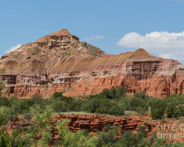 Palo Duro Canyon Poster featuring the photograph 08.03.14 Palo Duro Canyon Rojo Grande Trail 10e by Ashley M Conger
