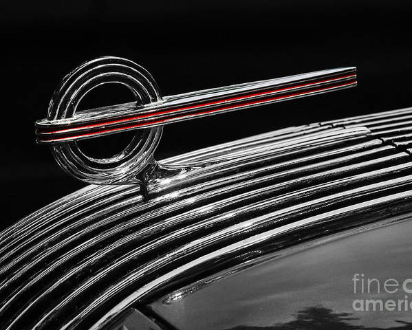 1936 Pontiac Poster featuring the photograph 1936 Pontiac Hood Ornament by Dennis Hedberg