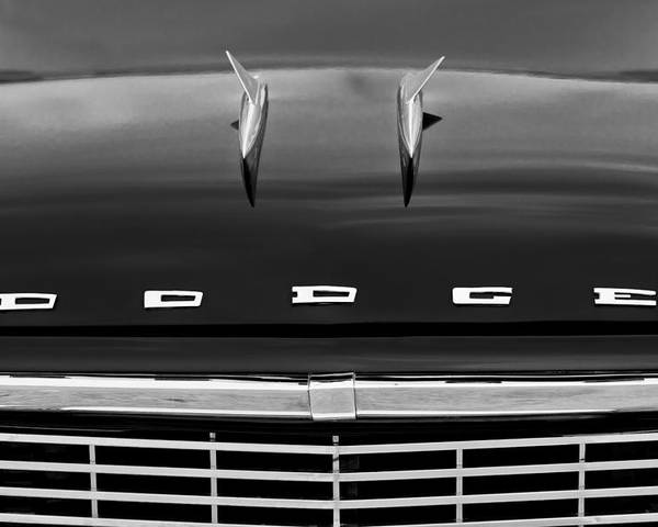 1958 Dodge Coronet Super D-500 Convertible Hood Ornament Poster featuring the photograph 1958 Dodge Coronet Super D-500 Convertible Hood Ornament by Jill Reger