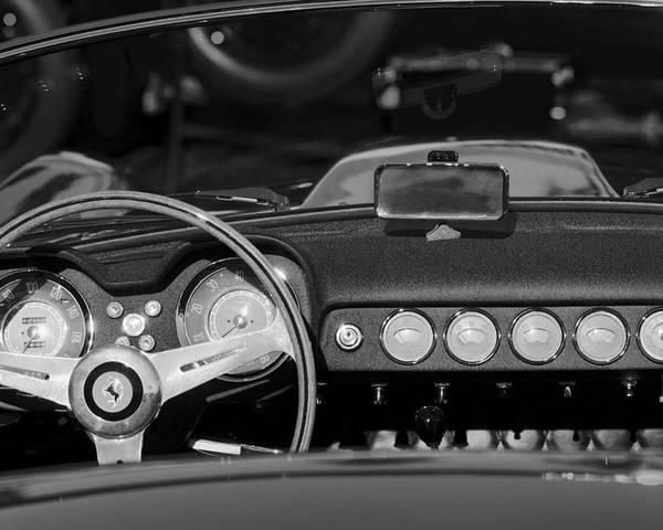 1958 Ferrari 250 Gt Lwb California Spider Steering Wheel Emblem Dashboard Poster
