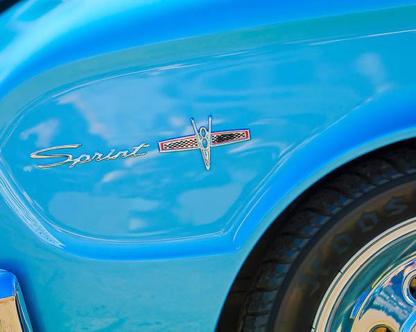 1963 Ford Falcon Sprint Side Emblem Poster featuring the photograph 1963 Ford Falcon Sprint Side Emblem by Jill Reger