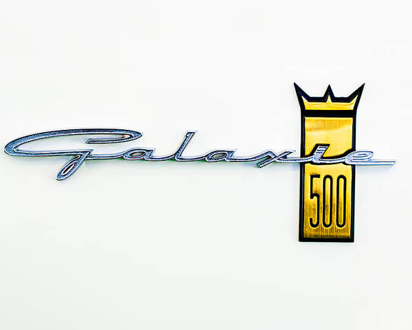 1963 Ford Galaxie 500 R-code Factory Lightweight Emblem Poster featuring the photograph 1963 Ford Galaxie 500 R-code Factory Lightweight Emblem by Jill Reger