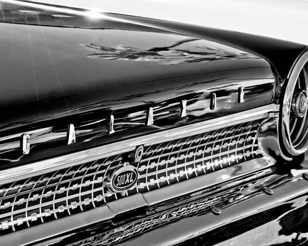 1963 Ford Galaxie 500xl Taillight Emblem Poster featuring the photograph 1963 Ford Galaxie 500xl Taillight Emblem by Jill Reger
