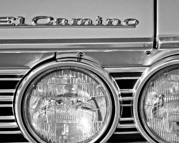1967 Chevrolet El Camino Pickup Truck Headlight Emblem Poster featuring the photograph 1967 Chevrolet El Camino Pickup Truck Headlight Emblem by Jill Reger
