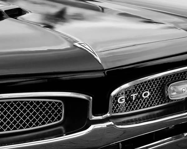 6870e2287 1967 Pontiac Gto Grille Emblem Poster featuring the photograph 1967 Pontiac  Gto Grille Emblem by Jill