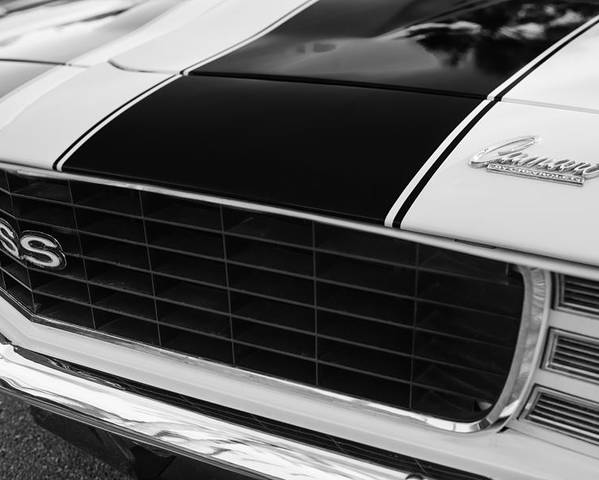 1969 Chevrolet Camaro Rs-ss Indy Pace Car Replica Grille Poster featuring the photograph 1969 Chevrolet Camaro Rs-ss Indy Pace Car Replica Grille - Hood Emblems by Jill Reger