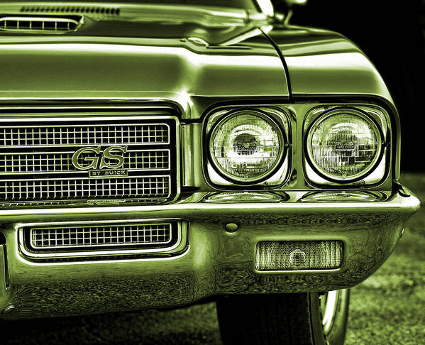 Green Poster featuring the photograph 1971 Buick Gs by Gordon Dean II