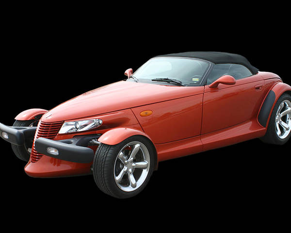 The Design Of The Prowler Was Said To Have Been Inspired After Chrysler Engineers Were Given Free Rein To Create Whatever They Wanted In A hot Rod Or sportster Type Vehicle Poster featuring the photograph 2002 Plymouth Prowler by Jack Pumphrey