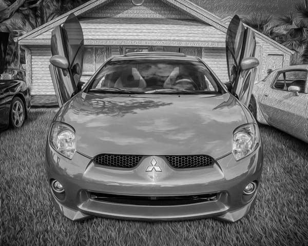 2006 Mitsubishi Eclipse Gt V6 Painted Bw Poster By Rich Franco