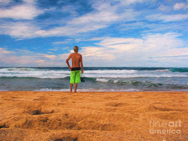 Surf Poster featuring the photograph Anticipation by Sheila Smart Fine Art Photography