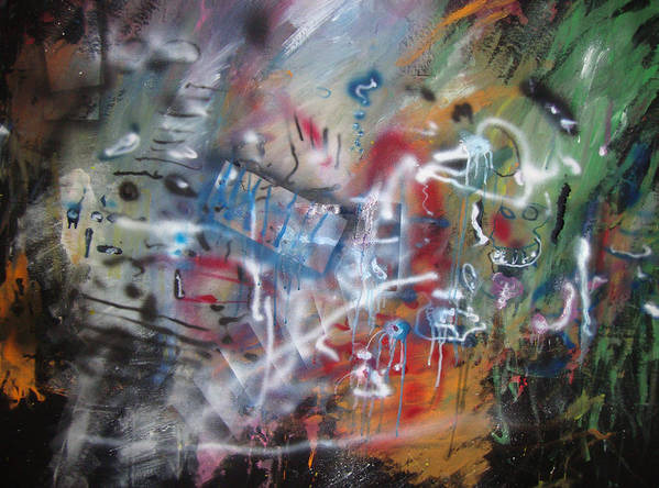 Abstract Poster featuring the painting ART by Leigh Odom