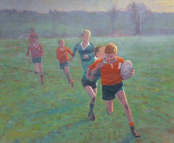 Sport Poster featuring the painting Auckland Rugby by Terry Perham