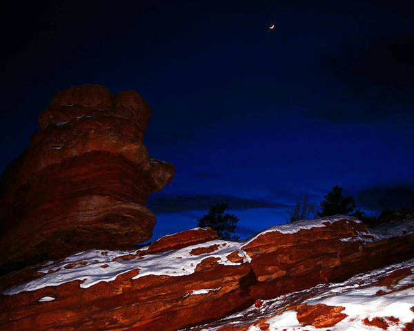 Landscape Poster featuring the photograph Balanced Rock by Pam Romjue