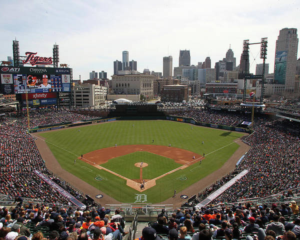 American League Baseball Poster featuring the photograph Baltimore Orioles V. Detroit Tigers by John Grieshop