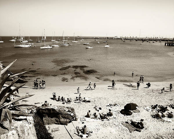 Beach View In Cascais Poster featuring the photograph Beach View In Cascais by John Rizzuto