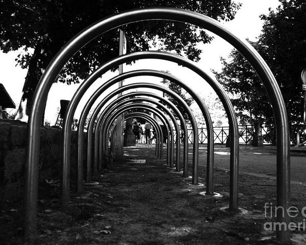 Park Poster featuring the photograph Bike Shed by Giuseppe Ridino