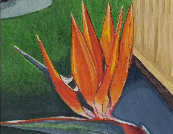 Bird Of Paradise Poster featuring the painting Bird Of Paradise by Vera Lysenko