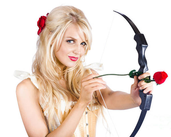 Adult Poster featuring the photograph Blond Woman With Cupid Bow by Jorgo Photography - Wall Art Gallery