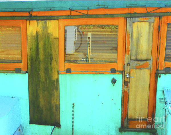 Abstract Poster featuring the photograph Blue Boat by Lauren Leigh Hunter Fine Art Photography