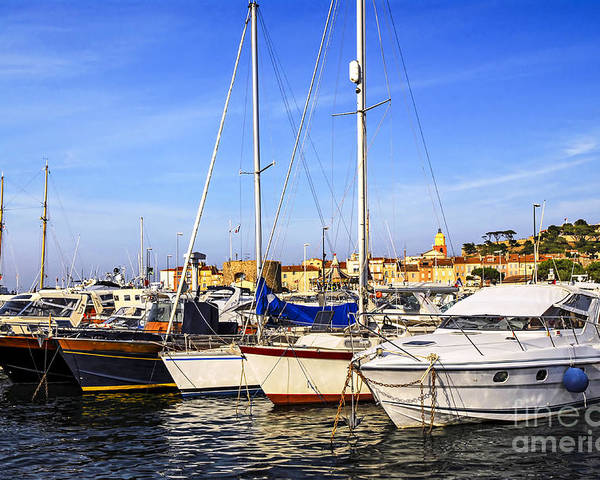 Yacht Poster featuring the photograph Boats At St.tropez by Elena Elisseeva