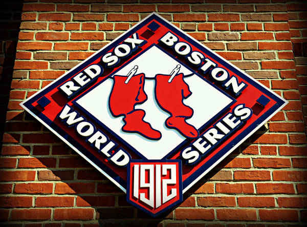 Boston Poster featuring the photograph Boston Red Sox 1912 World Champions by Stephen Stookey