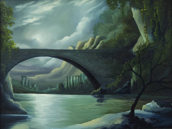 Ghosts Poster featuring the painting Bridge to Nowhere by James Christopher Hill