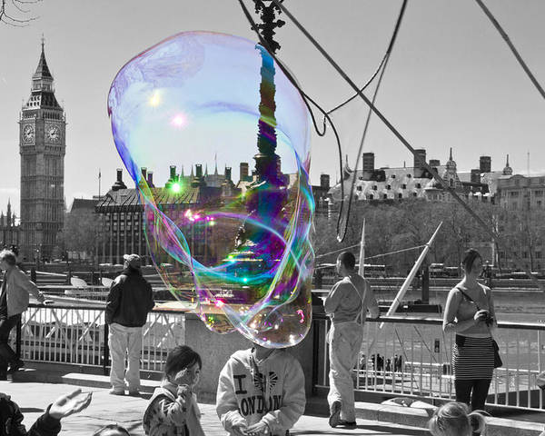 Bubbles Poster featuring the photograph Bubbles Big Ben by David French