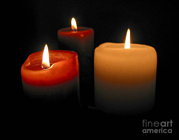 Candle Poster featuring the photograph Burning Candles by Elena Elisseeva