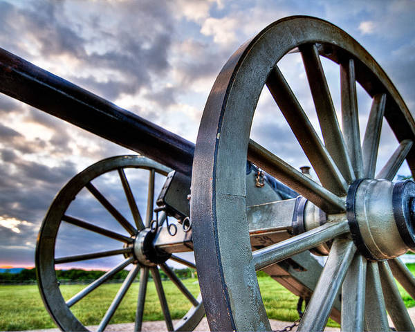 Abraham Poster featuring the photograph Cannon Over Gettysburg by Andres Leon