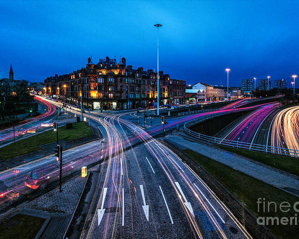 Cityscape Framed Prints Poster featuring the photograph Charing Cross Glasgow by John Farnan