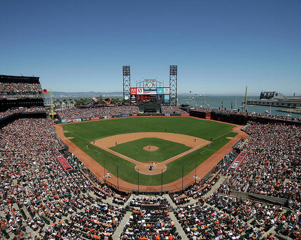 San Francisco Poster featuring the photograph Chicago Cubs V San Francisco Giants by Ezra Shaw