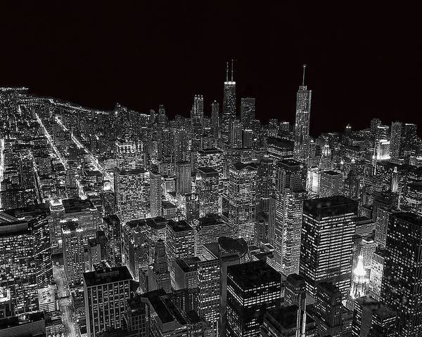 Chicago Poster featuring the photograph Chicago by Jeff Lewis