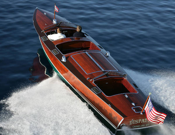 Riva Poster featuring the photograph Classic Gar Wood Runabout by Steven Lapkin