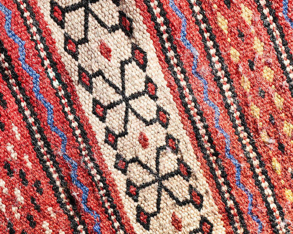 Abstract Poster featuring the photograph Colorful Rug by Tom Gowanlock