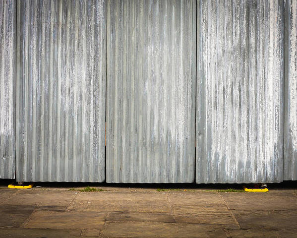 Background Poster featuring the photograph Corrugated Metal by Tom Gowanlock