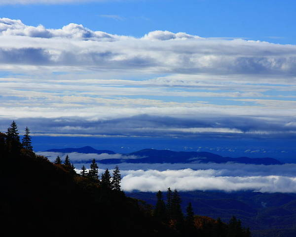 Sea Of Clouds Poster featuring the photograph Courthouse Valley Sea Of Clouds by Mountains to the Sea Photo