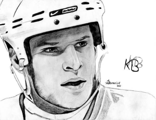 Kevin Poster featuring the drawing Defence On Offence by Kayleigh Semeniuk