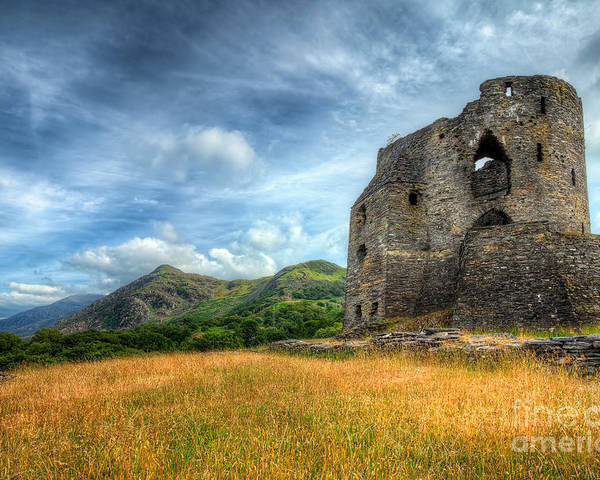 Architecture Poster featuring the photograph Dolbadarn Castle by Adrian Evans