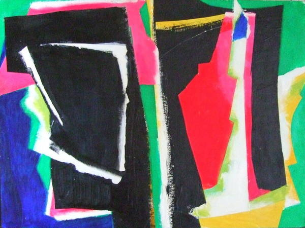 Abstract Expressionism Poster featuring the mixed media Duo by Diane Fine